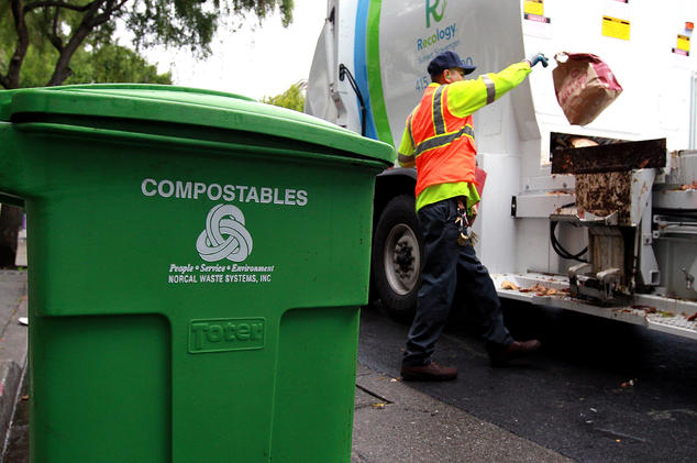 Recology collects food waste from San Francisco residents and commercial districts. They divert over 125,000 tons of food waste per year (2017). Read more about San Francisco's composting efforts  here .