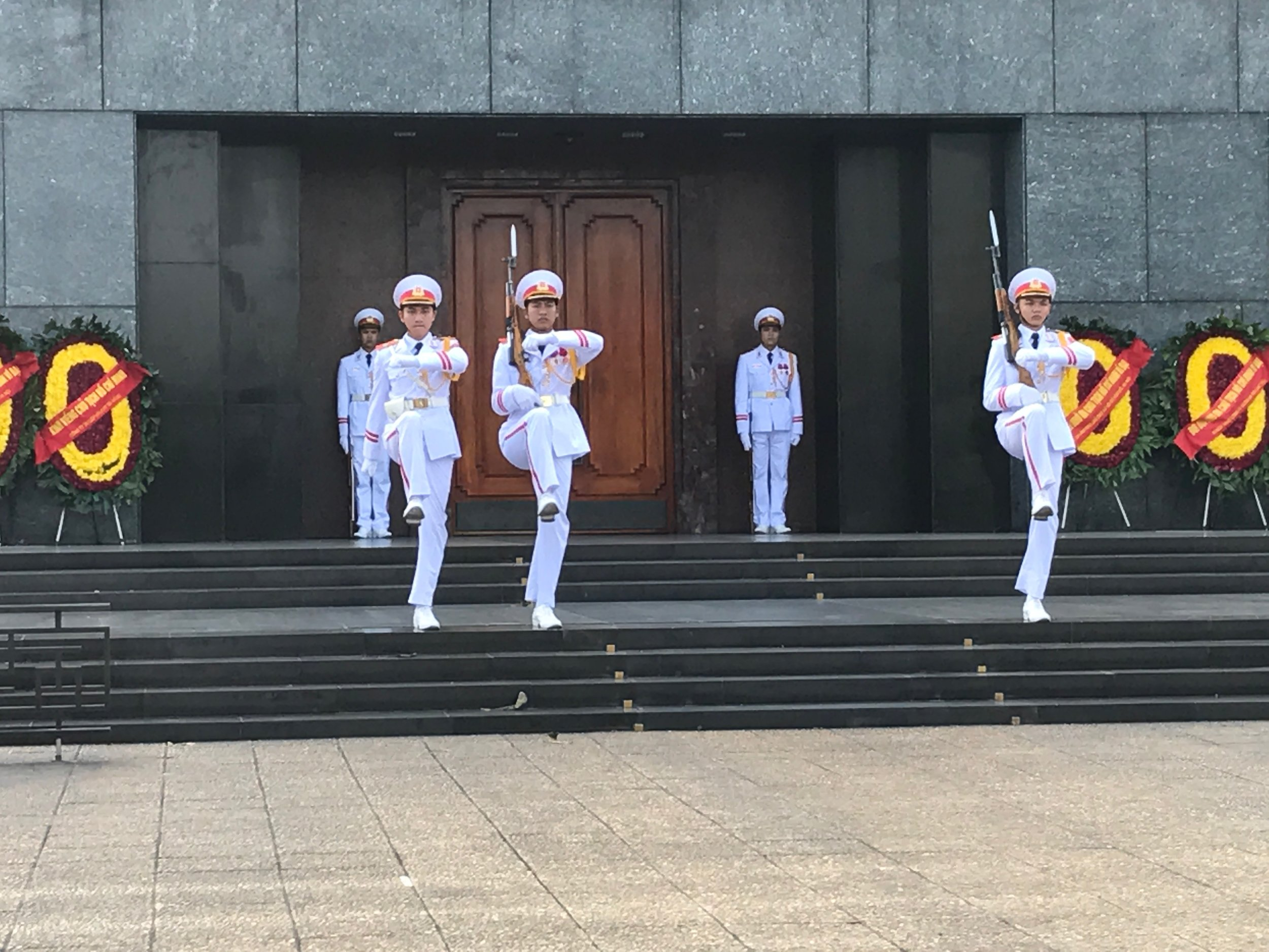 Changing of the guard at Ho Chi Minh's Masoleum