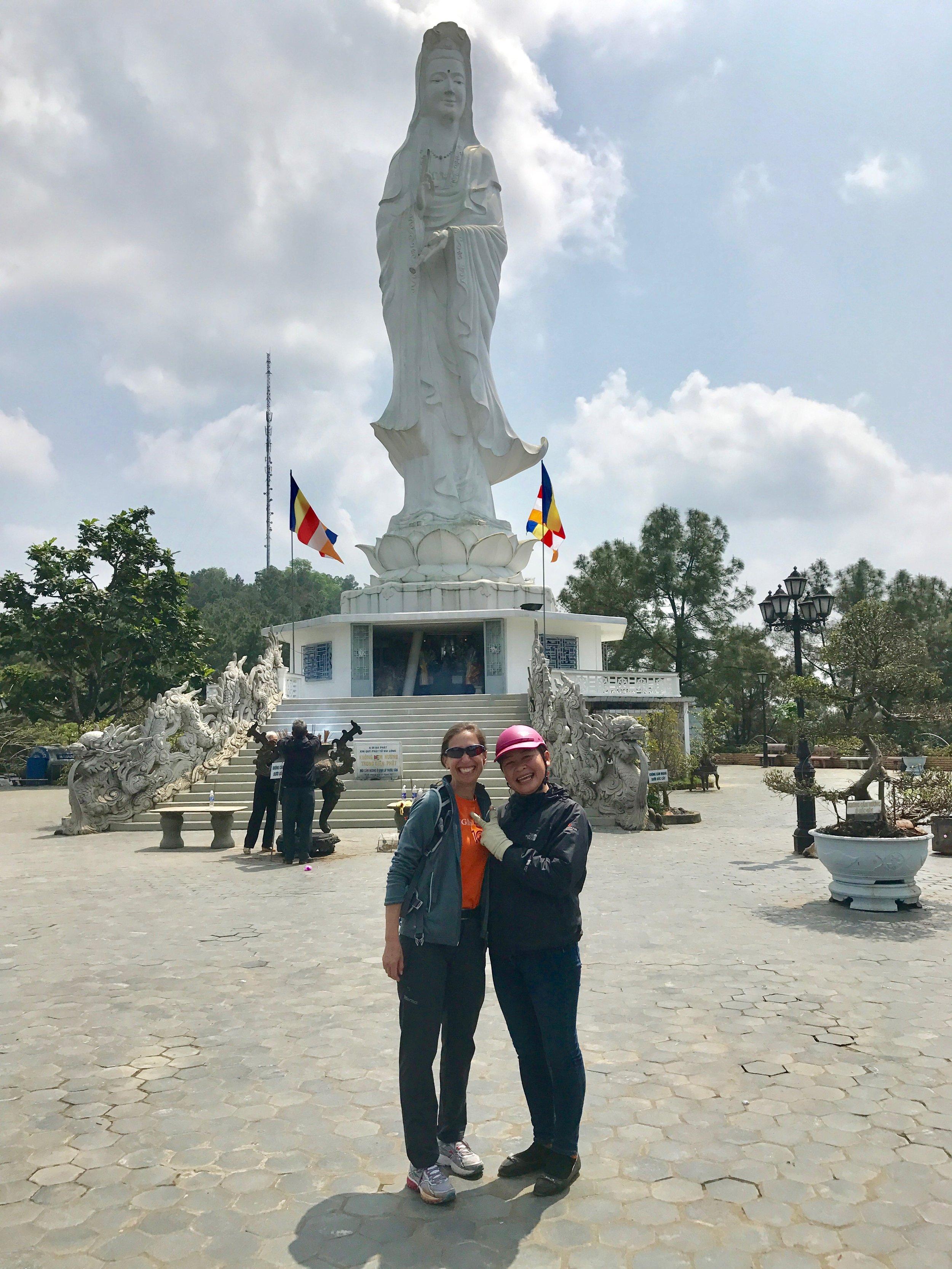 Lisa and DEng at the Budda statue