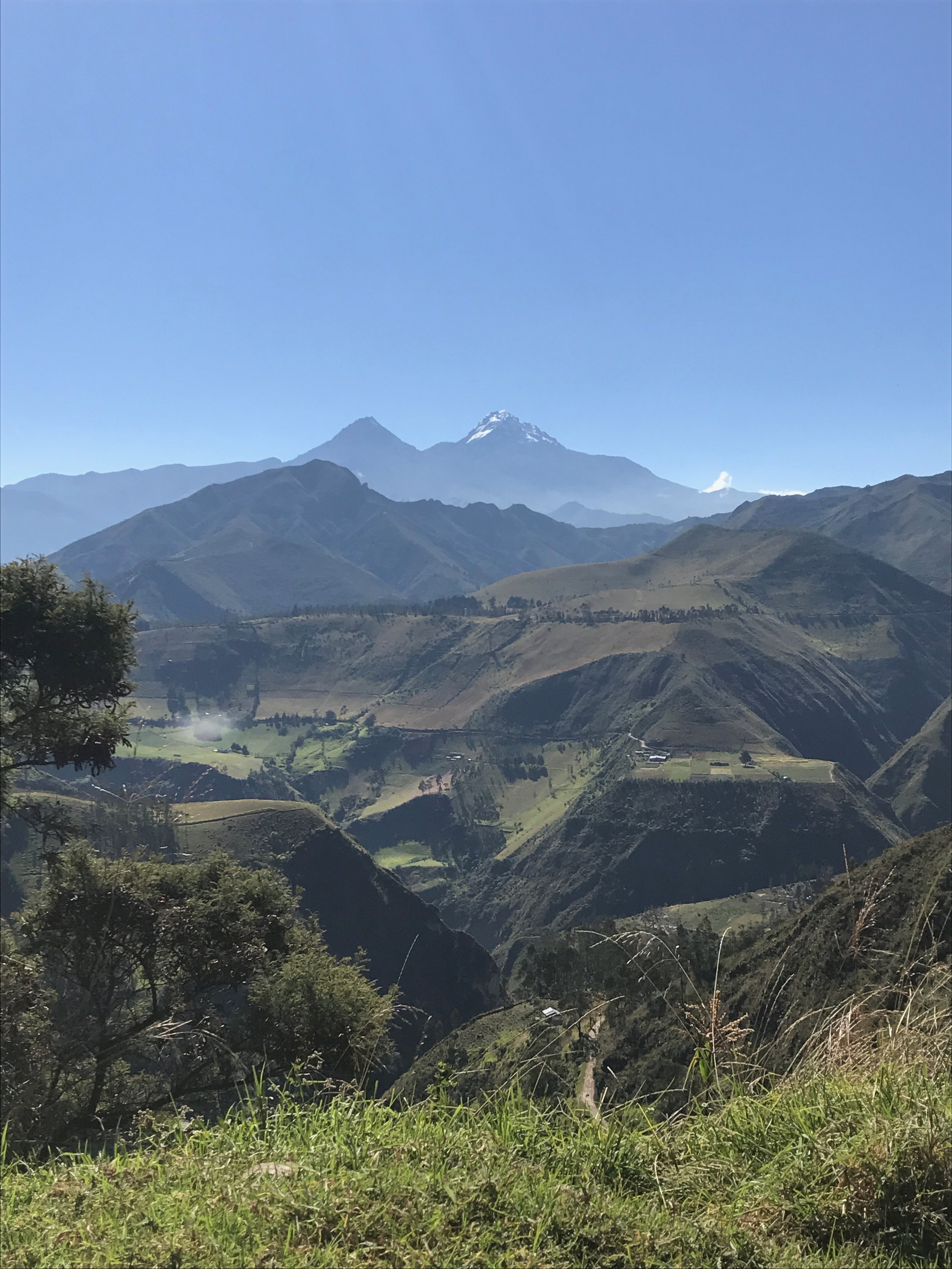 Vistas on the trek to Quilotoa