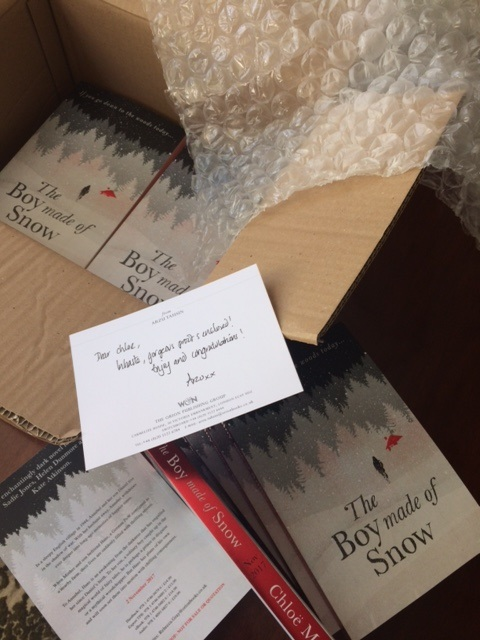 Proof copies of The Boy Made of Snow.