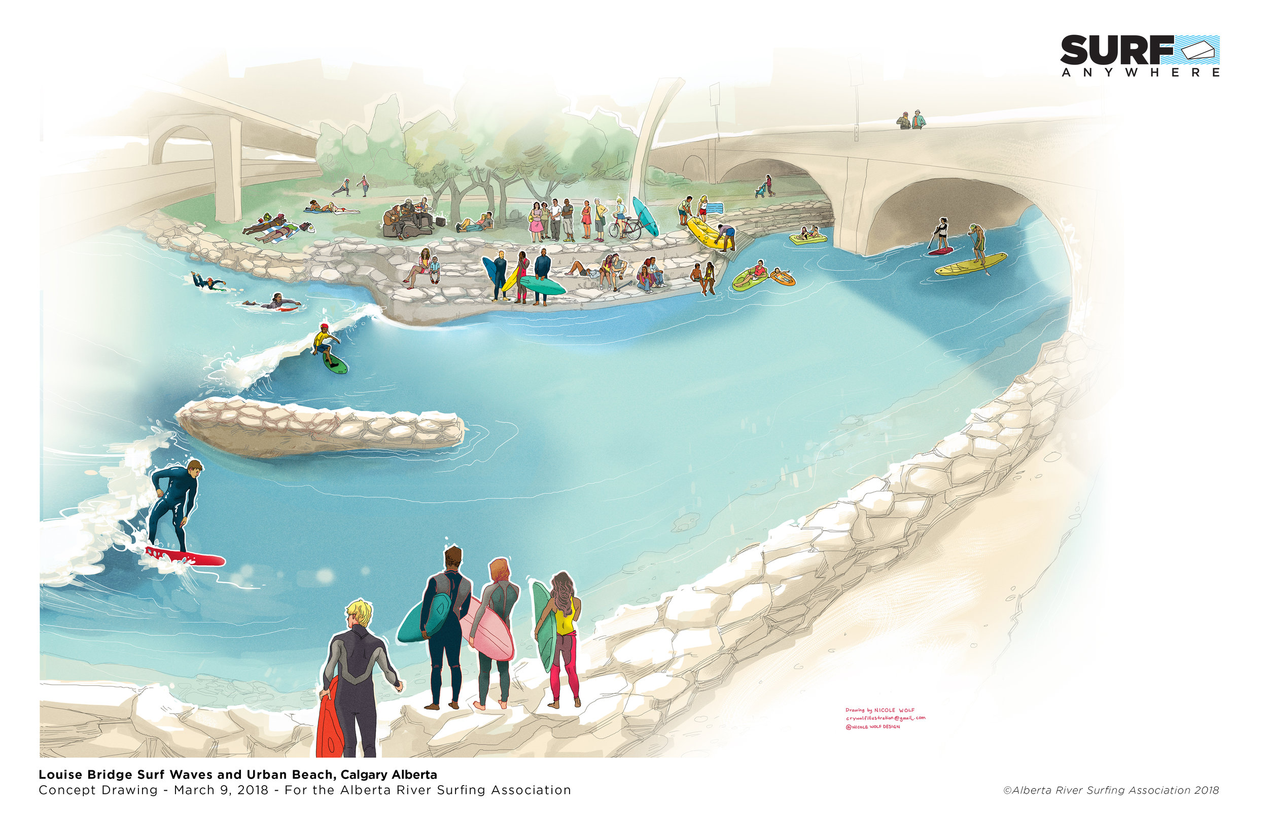 Concept Drawing Louise Bridge Surf Wave and Beach 180309.jpg