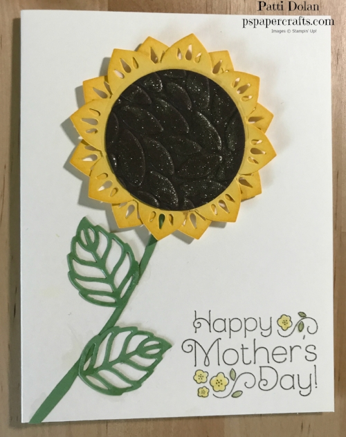 I used one of the Eastern Palace medallions for the flower in Daffodil Delight and the center was embossed using the Petals Burst Embossing Folder. I added some Gold Wink Of Stella for glitter.