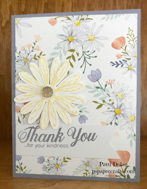 This card was made using Wisteria Wonder Cardstock and Ink and Daffodil Delight Ink along with the Delightful Daisy Bundle and Daisy Delight Designer Series Paper.  See all the products at the bottom of this blog.