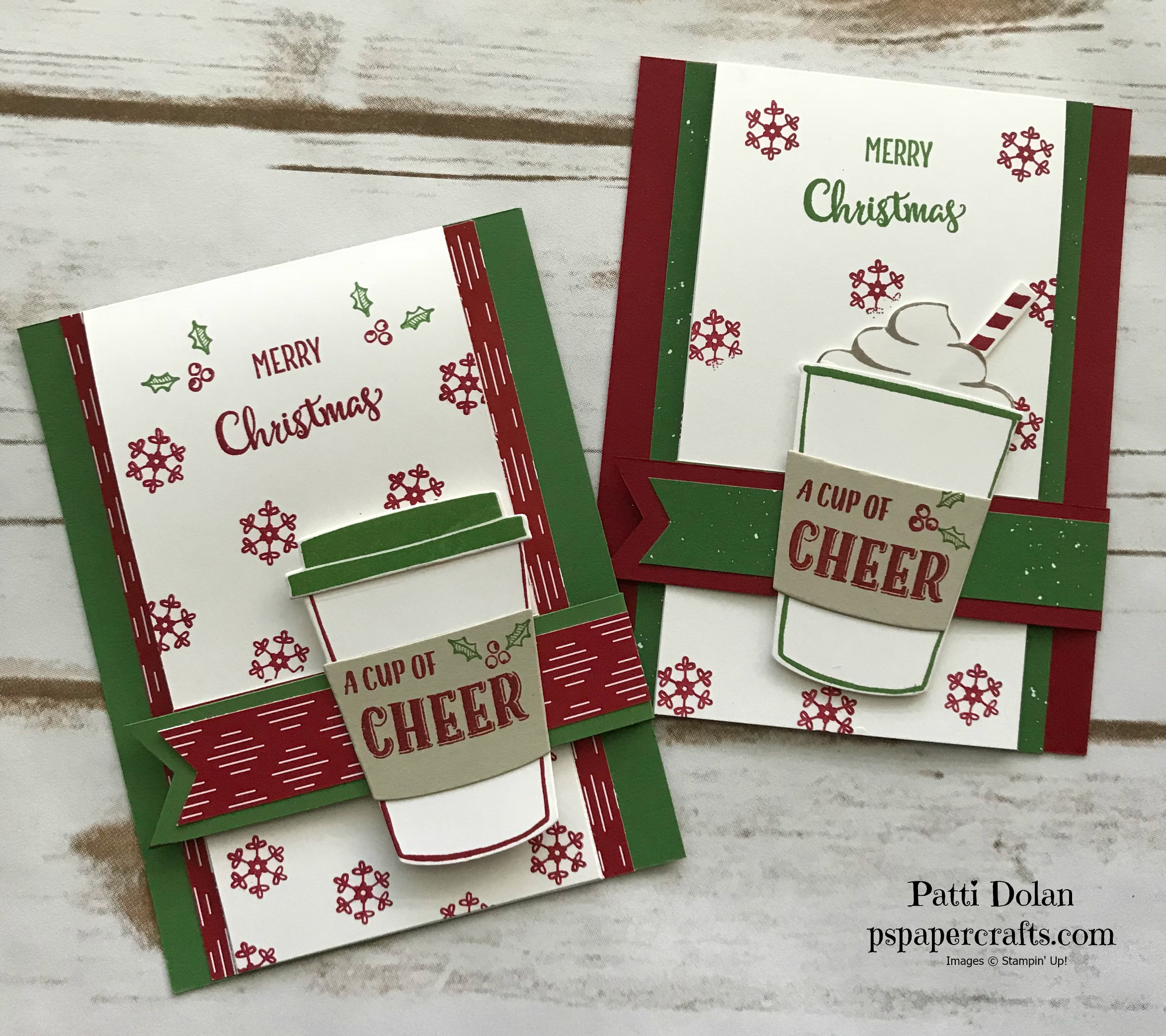 Merry Cafe Christmas Card with Gift Card Holder Both1.jpg