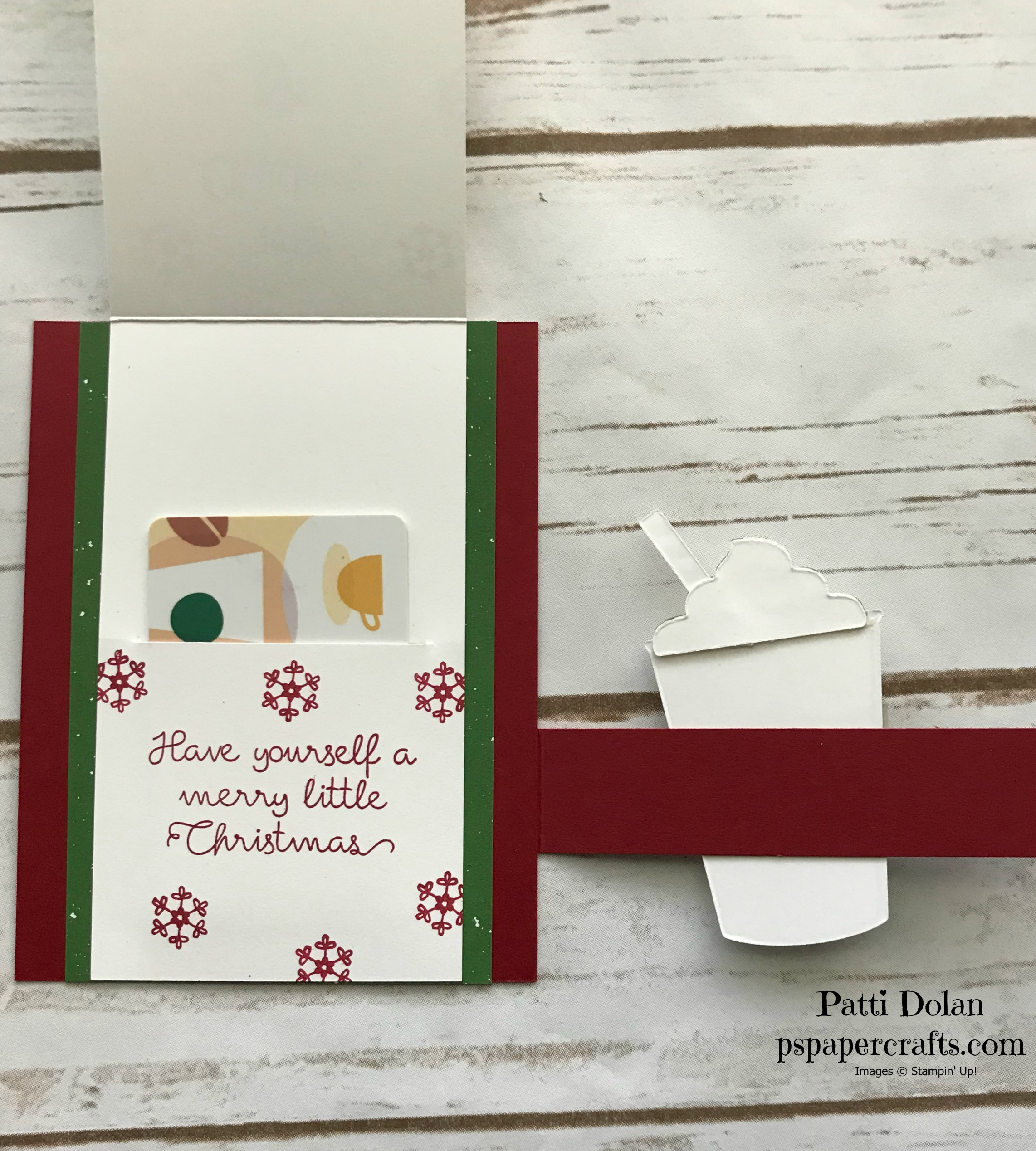 Merry Cafe Christmas Card with Gift Card Holder Inside.jpg