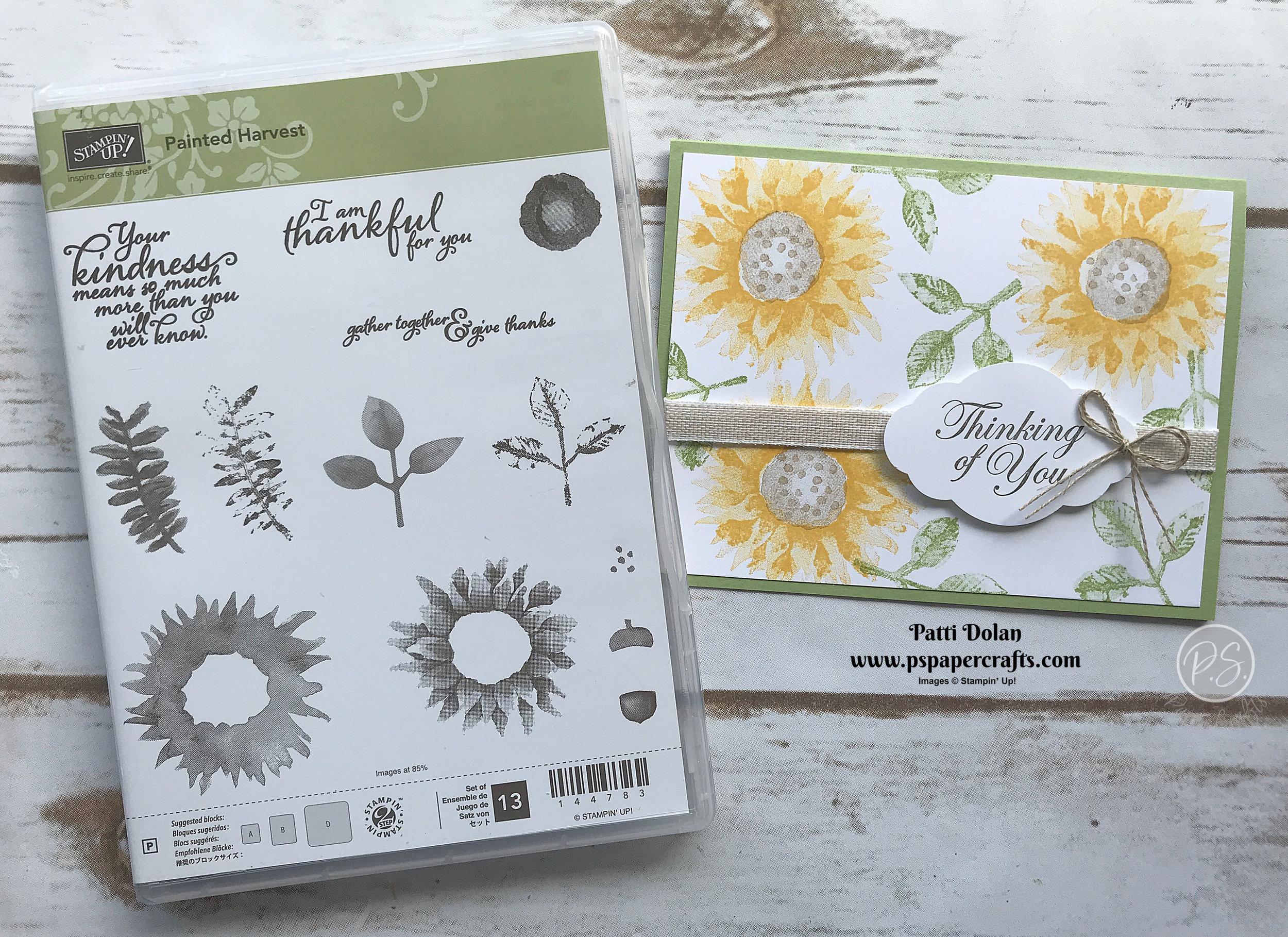 Painted Harvest Sunflower Card.jpg