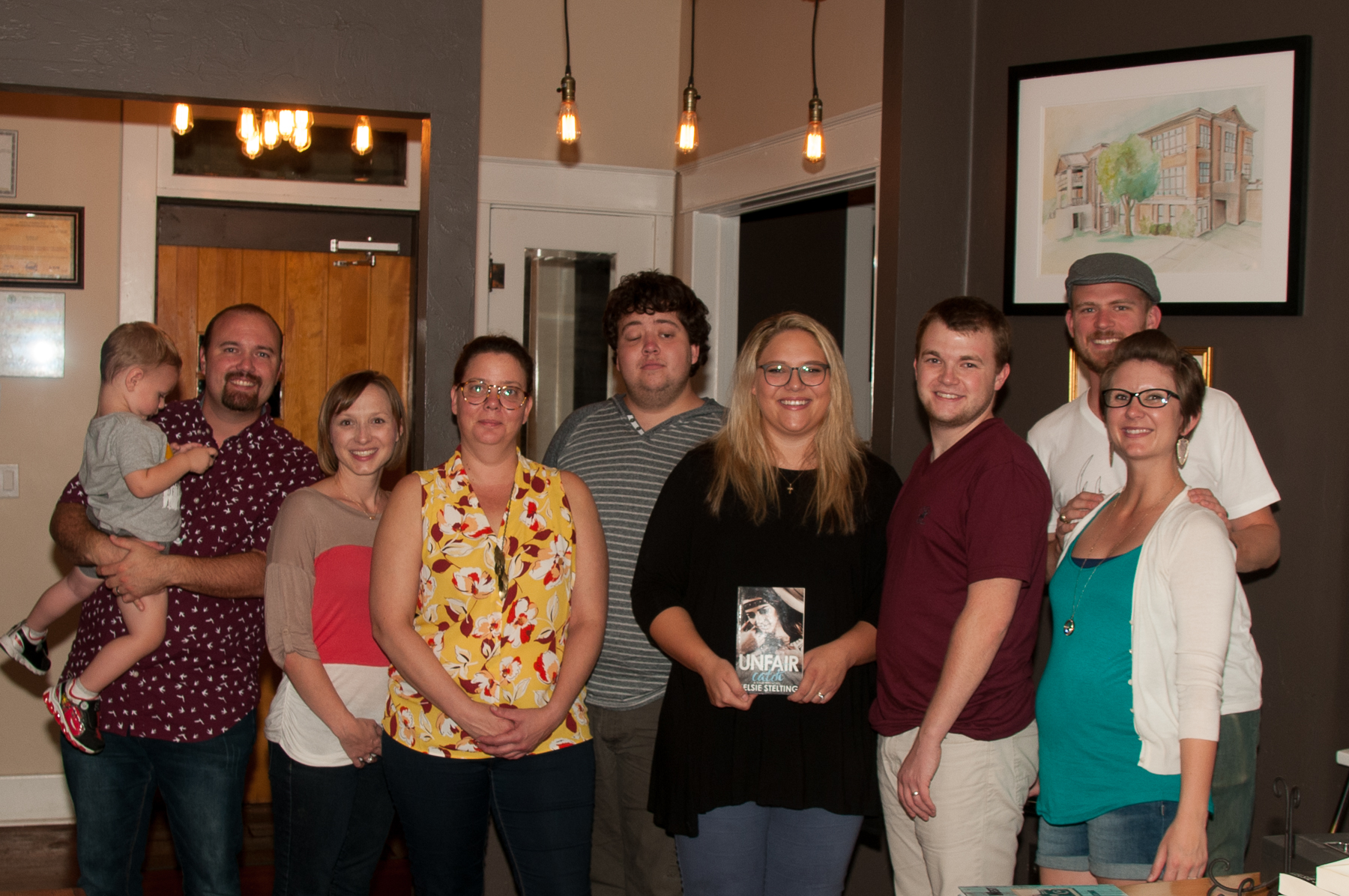The writing gang, minus Danny. (Left to right) Malachi, Johnny, and April walker, Tucker, me, Ty, Garrett, and Shayli (plus Rhett, who's going to make an appearance here in a few months!)