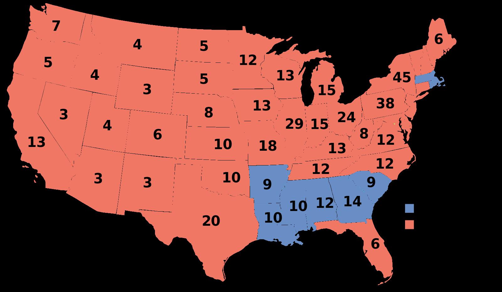 Electoral vote results, 1928