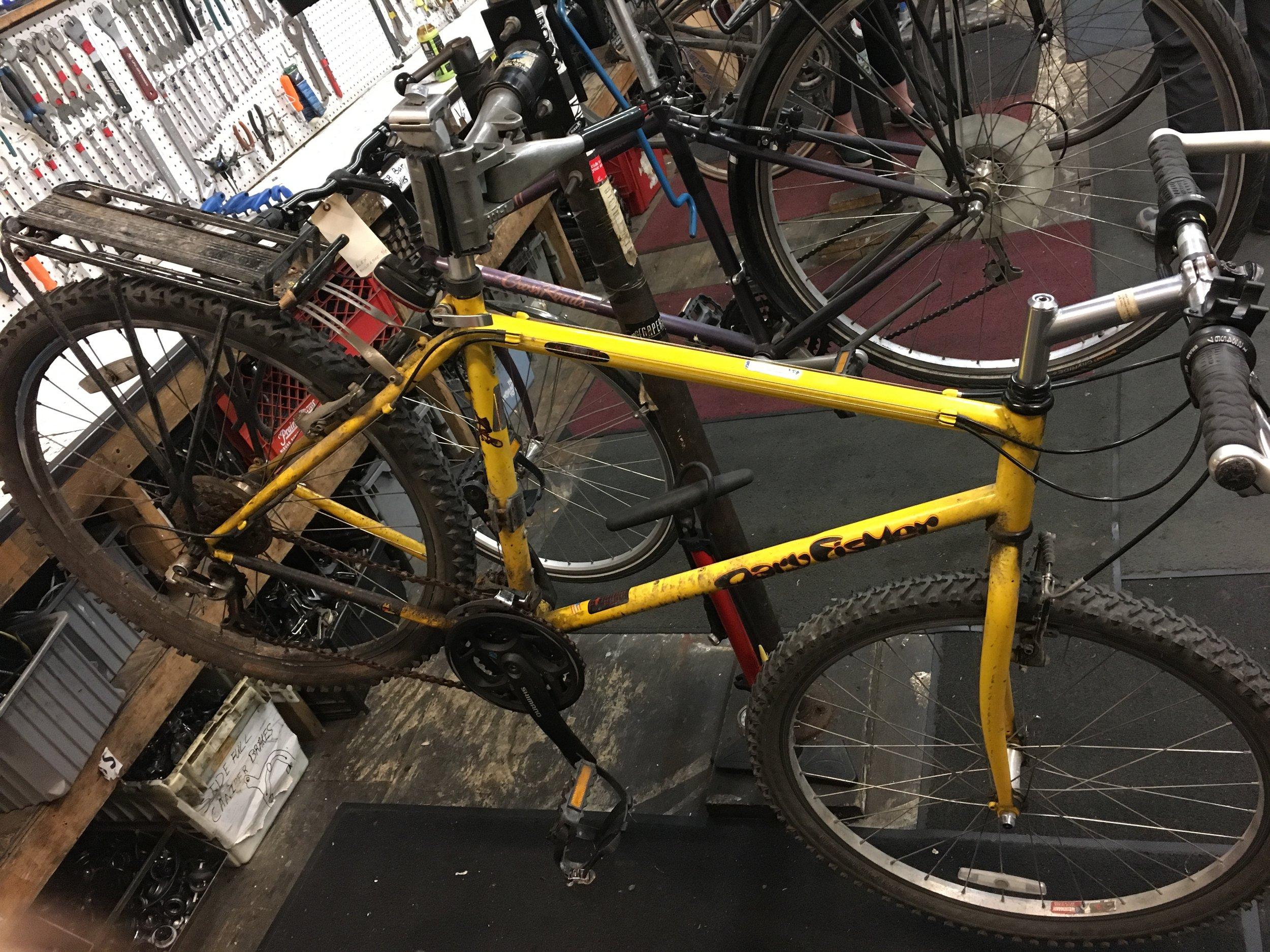 mcul's winter project bike