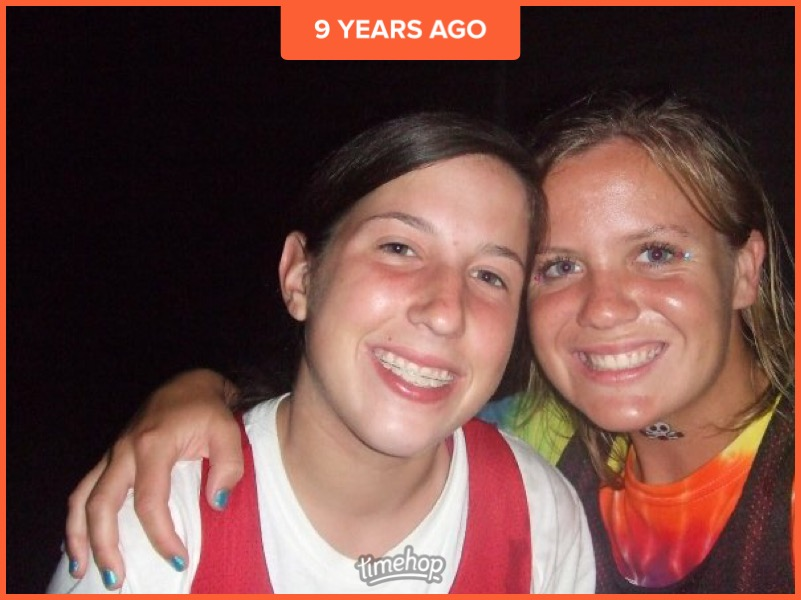 Thanks to Timehop for bringing this picture back from my 16th birthday with my friend Sam, braces and all. Thought you'd all enjoy! Glad those years are behind me! HA!