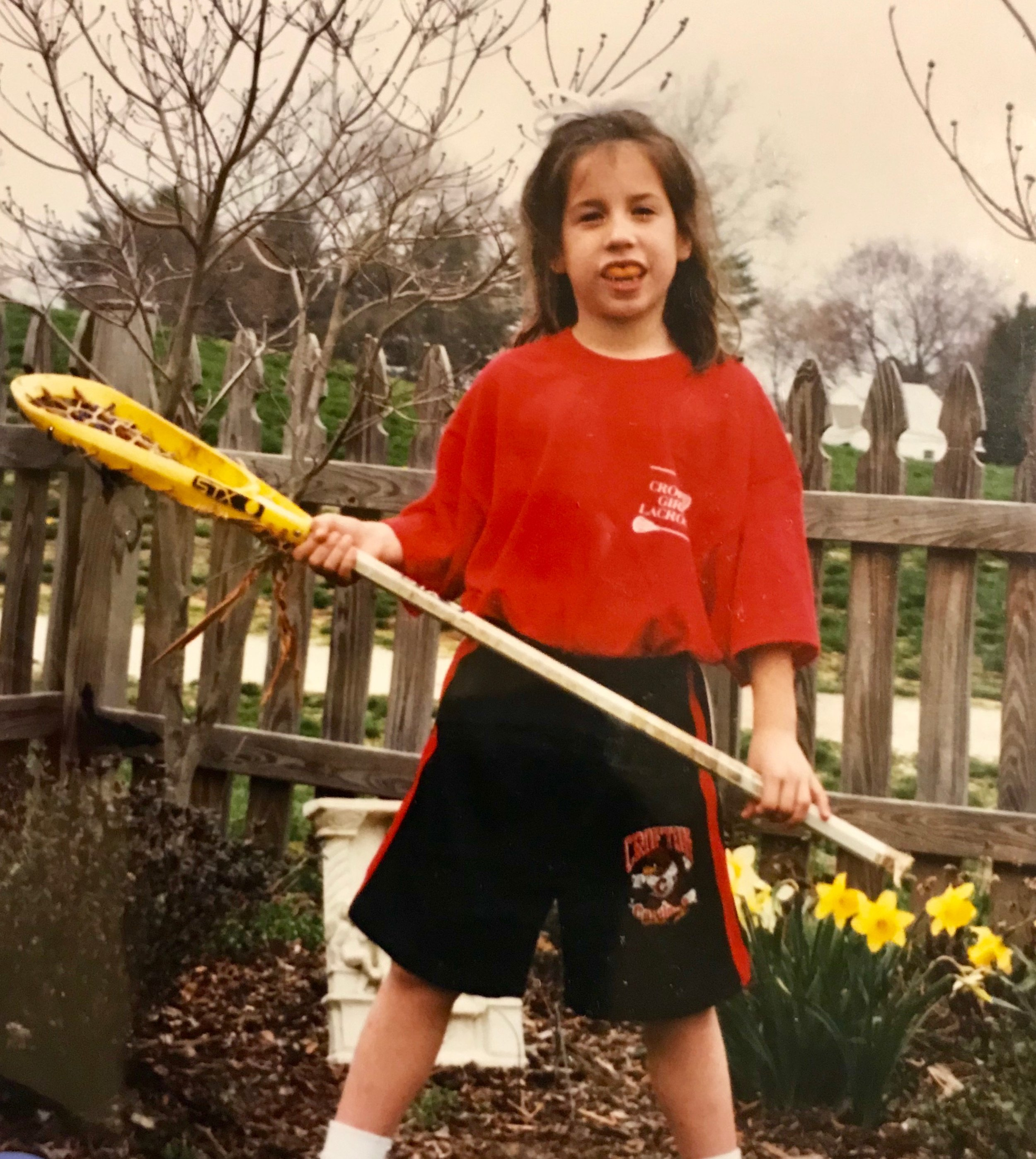 My first year of lacrosse at age 5.