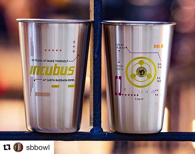 We love how this collaboration between @incubusofficial, @goldenvoice & the @sbbowl supports the @byobottle campaign! 🎫🌎💚🎸 Can't wait to see #incubus at the #sbbowl tomorrow night! ・・・ @Incubus : 20 Years of Make Yourself and Beyond Custom Souvenir Pint⠀ Today, @Goldenvoice, in partnership with Incubus and @SBBowl, announce a custom reusable souvenir pint cup to commemorate @Incubusofficial once-in-a-lifetime performance celebrating 20 Years of Make Yourself and Beyond at Santa Barbara Bowl on September 26th!⠀ An extremely limited supply of custom Incubus souvenir pints will be available for sale on a first come first serve basis at all concession points, box office and merch booth on the show day only for $10.00. There is a two-pint limit per person. All proceeds from the pints sold will be donated to the @makeyourselffoundation. ⠀ ⠀ Hurry to get your tickets for Incubus with special guest Dub Trio at Santa Barbara Bowl at AXS.com or Santa Barbara Bowl box office. ⠀ ⠀ Photo by A Arthur Fisher, Pint Design by Saish Kotecha  #byobottle #enviornmentallyfriendly #reduceplastic #santabarbara #concert #community #oniracom #collaboration #livemusic #greenmusic #musicindustry
