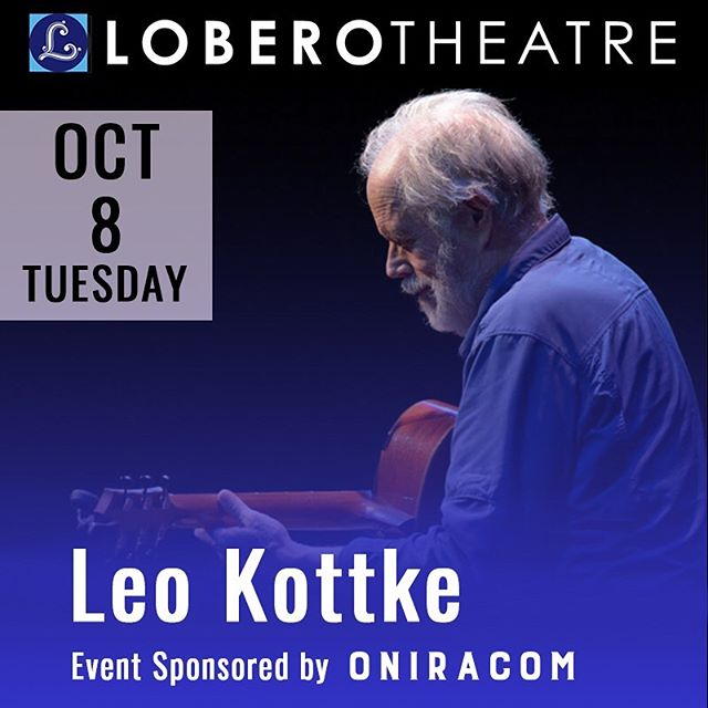Oniracom is proud to be sponsoring this @loberotheatre event! Make sure to get your tickets for Tuesday to see the iconic #LeoKottke perform in California's oldest continually operating theatre. See you there! 🏤🎶