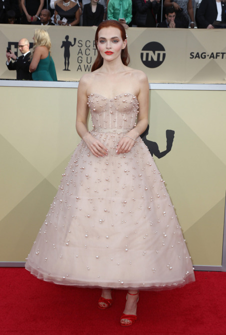 Madeline Brewer in Reem Acra