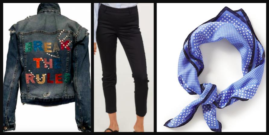 Jacket $300  /  Pants $14.99  /  Scarf $13
