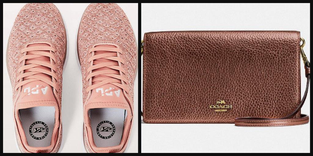 Sneakers $185  /  Clutch $87