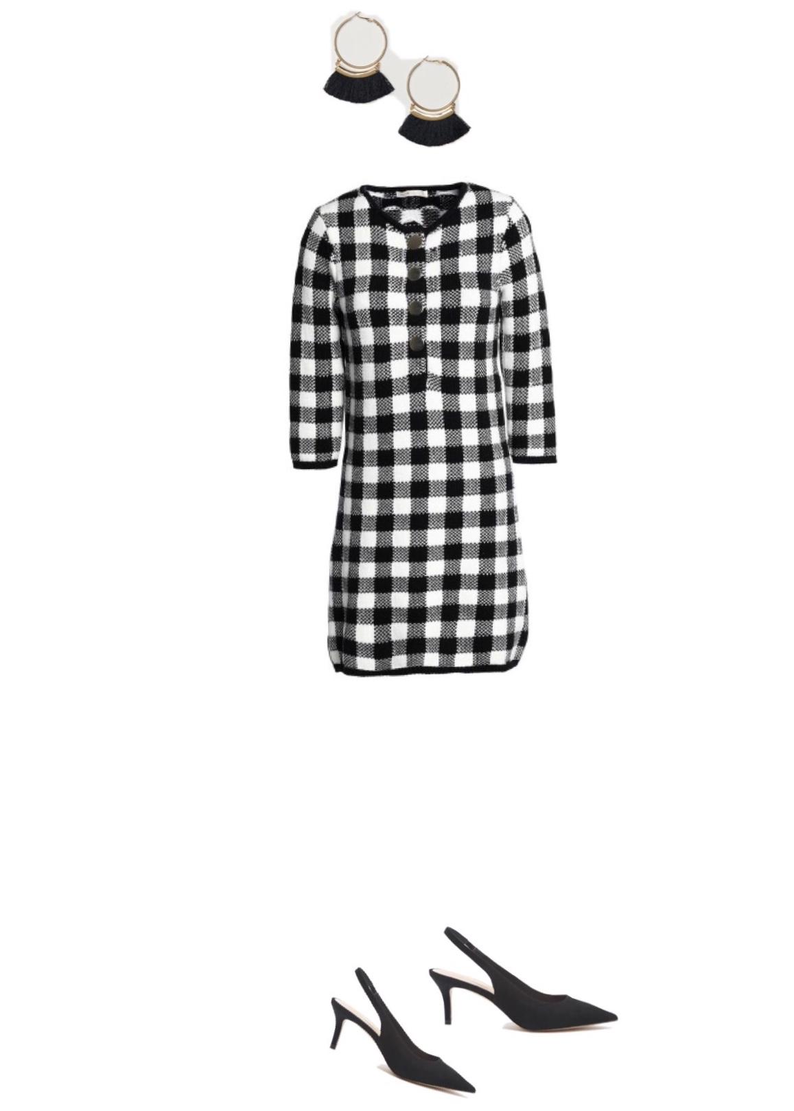 Dress  / Shoes:  $24  / Earrings:  $9