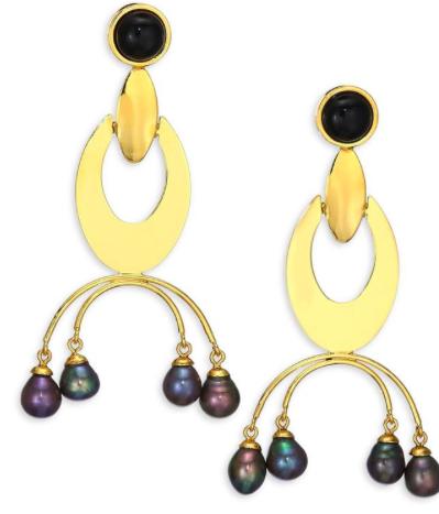 Lizzie Fortunato Freshwater Pearl Drop Earrings