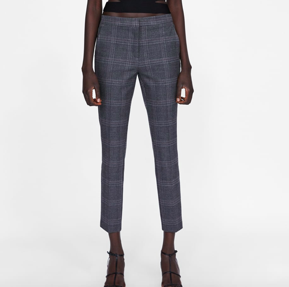 Plaid Jogging Pants By Zara