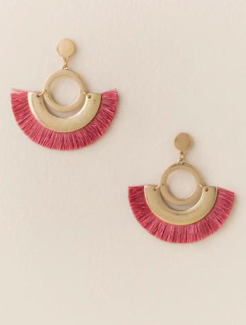 Bria Geo Tassel Earrings