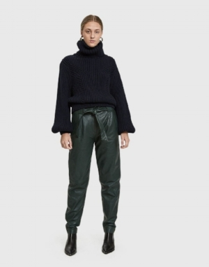 Just Female Sago Leather Pants  - Now Available at Lindsey's Kloset - Ad