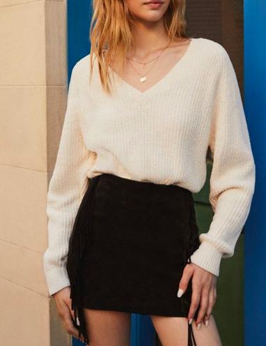 Cozy Chenille V-Neck Sweater