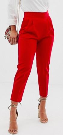 Petite high waist tapered pants