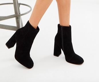 ASOS DESIGN Endless suede heeled boots
