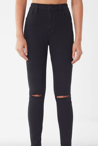 Twig Ripped High-Rise Skinny Jeans