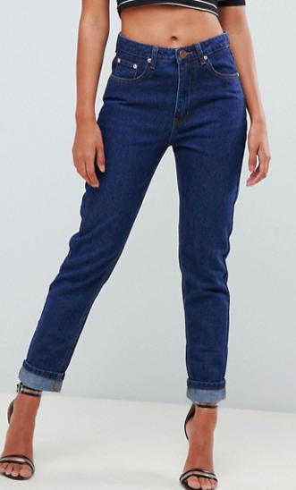 Boohoo Turn Up Hem Mom Jeans