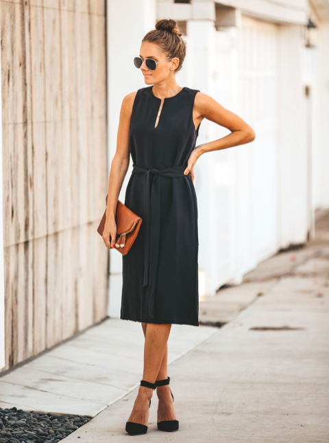 MAKING MEMORIES TIE MIDI DRESS