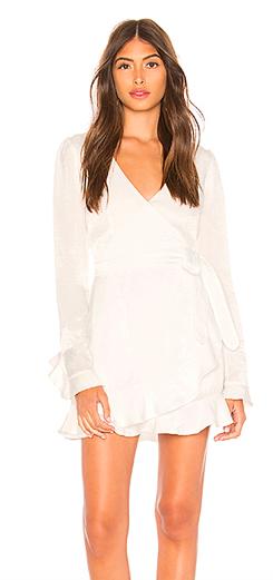 Eliza Mini Wrap Dress