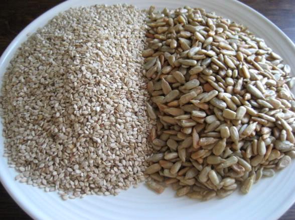 Sesame and sunflower seeds via  bing