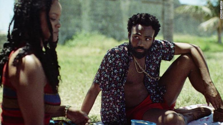 "Rihanna and Donald Glover star in the short film ""Guava Island."" via  CNN"