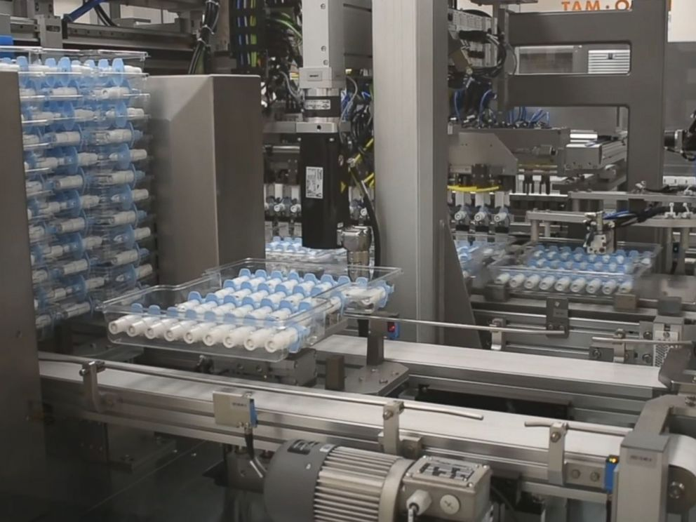 The esketamine nasal spray Spravato is manufactured by Janssen Pharmaceutical Companies of Johnson and Johnson. Via  ABC News