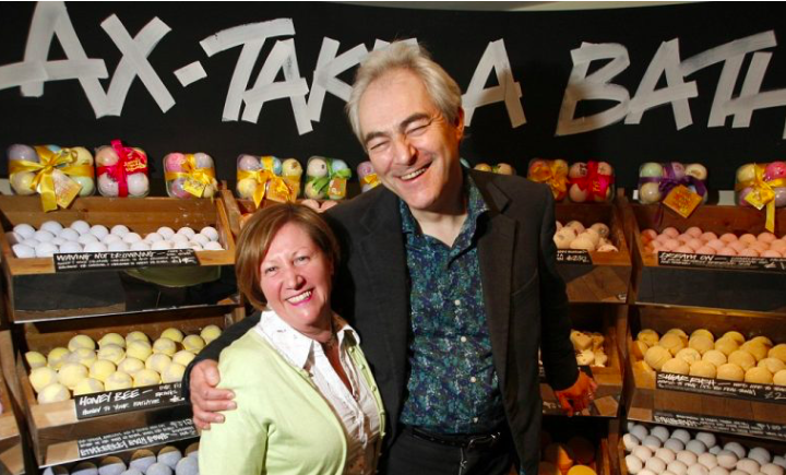 Co-founders Mark Constantine and Liz Weir via  LUSH