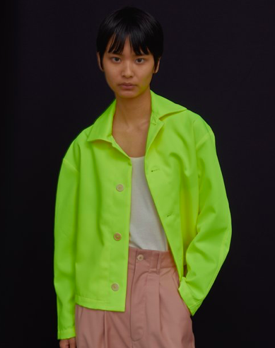 Twill Jacket In Fluorescent Chartreuse ($255)
