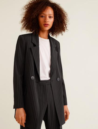 Striped Suit Blazer ($149)