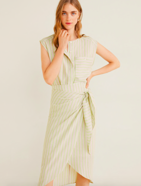 Striped Wrap dress  $69