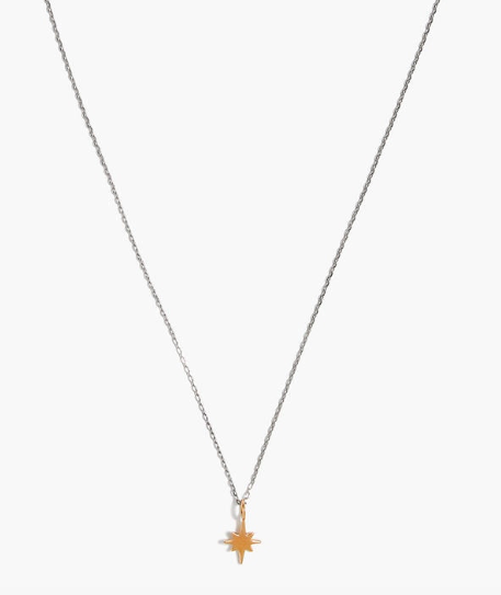 Vermeil Bright Star Charm Necklace