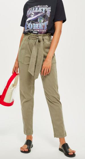 Popper Utility Cargo Trousers ($40)