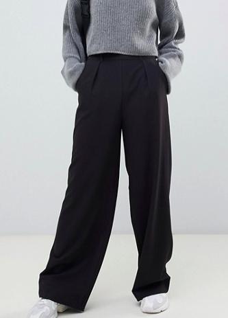 wide leg pants with pleat detail ($40)