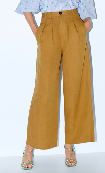 WIDE LEG PANTS WITH DARTS ($27)