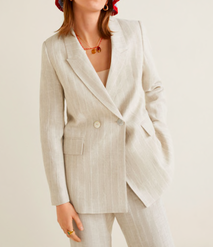 Structured linen jacket $79