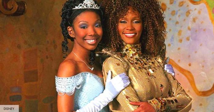 Brandy Norwood as Disney's Cinderella / Whitney Houston as Fairy God Mother via  Cosmopolitan
