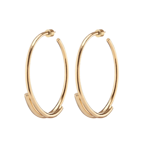 Double Cylinder Hoops $325