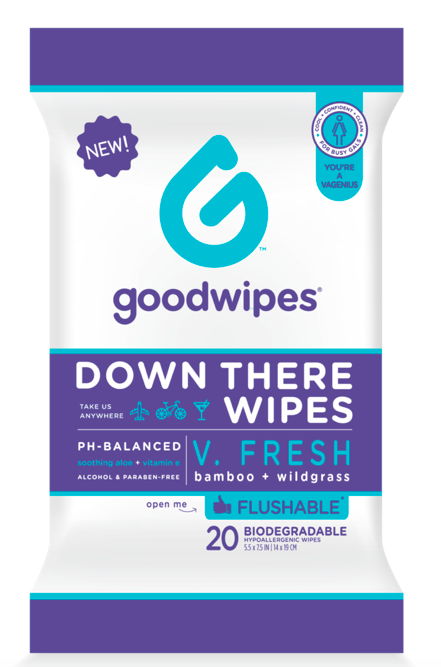 Goodwipes Down There Wipes for Gals $3.99  (Down There Wipes for Gals V.FRESH is available NOW at your local    CVS   !)