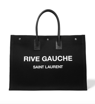 Saint Laurent Noe leather-trimmed printed canvas  $1050