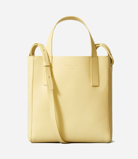 I love the color of this bag. A cute handheld or crossbody for a day out. via Everlane  $155